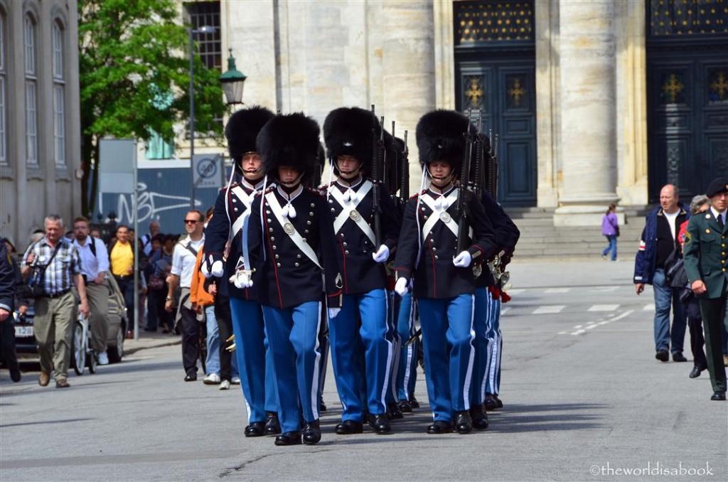 Danish Royal life guard at Amalienborg Palace