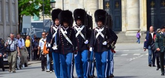 Changing of the Danish Royal Guards and Amalienborg Palace
