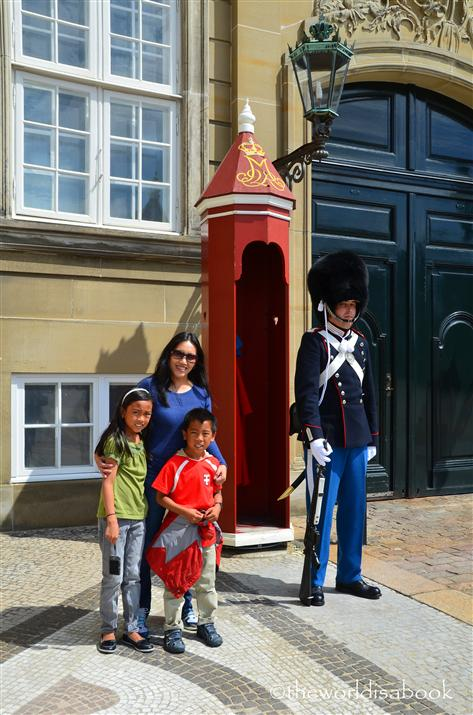 Danish royal guard at Amalienborg palace
