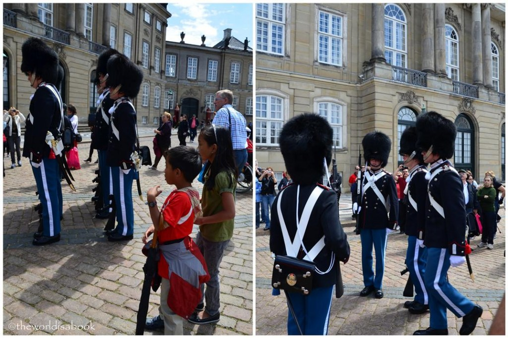 Danish royal guards at Amalienborg Palace