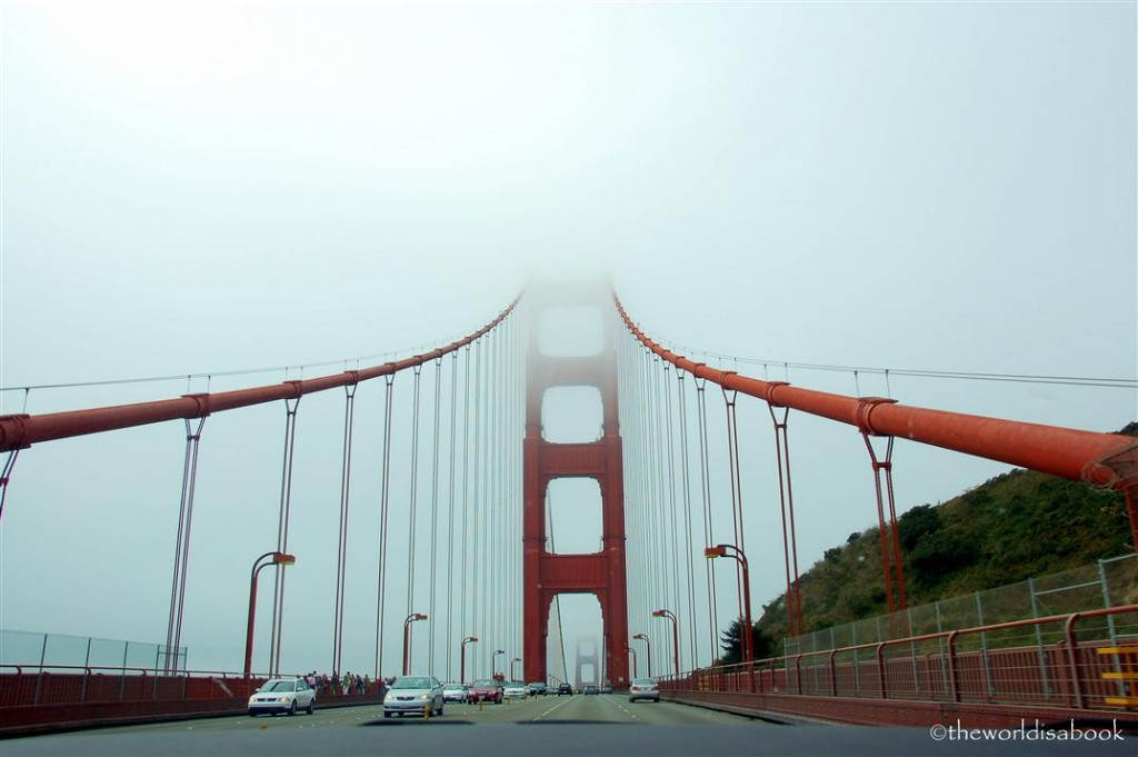 driving in Golden Gate Bridge