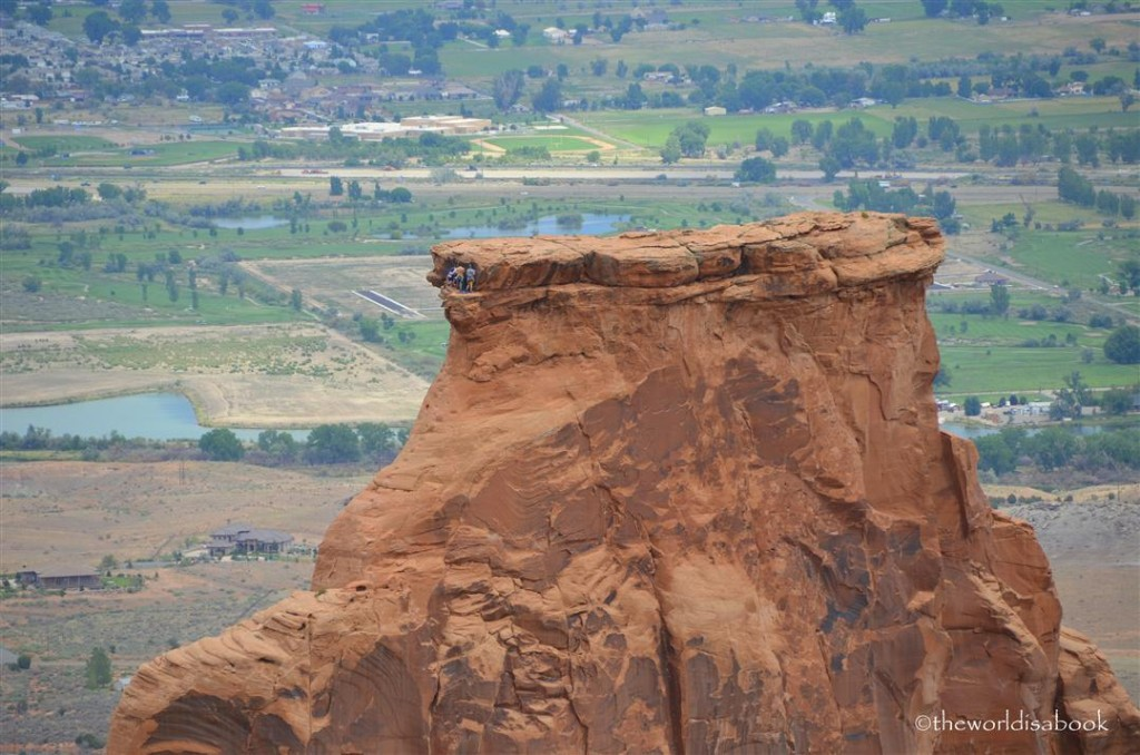 Independence Monument rock climbers