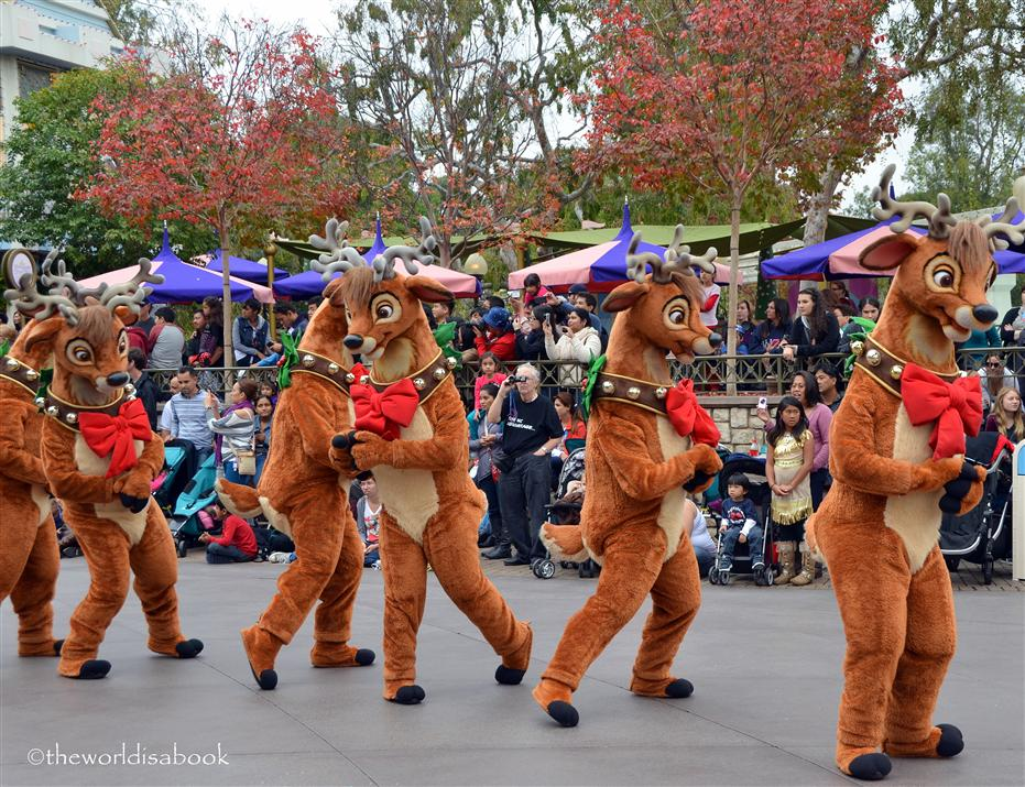 Disneyland Holiday Parade Reindeer