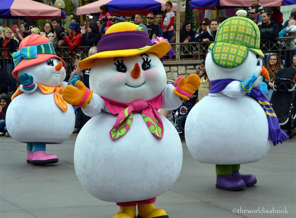 Disneyland Holiday Parade snowman