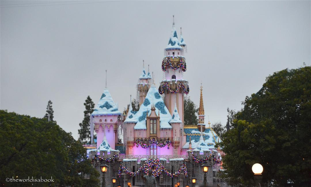 Disneyland Sleeping Beauty Castle holiday night