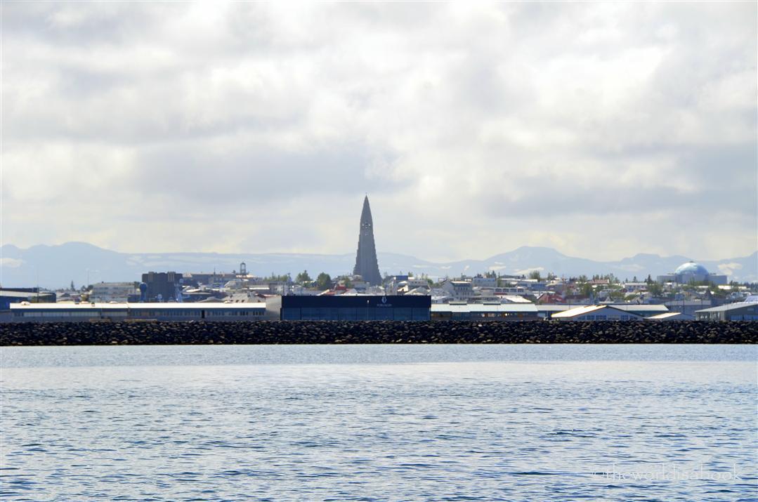 Reykjavik skyline view