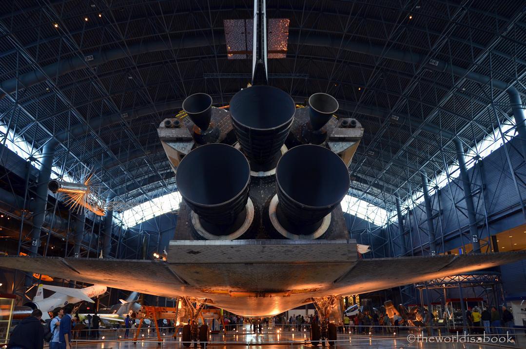 Udvar Hazy Center Discovery shuttle back