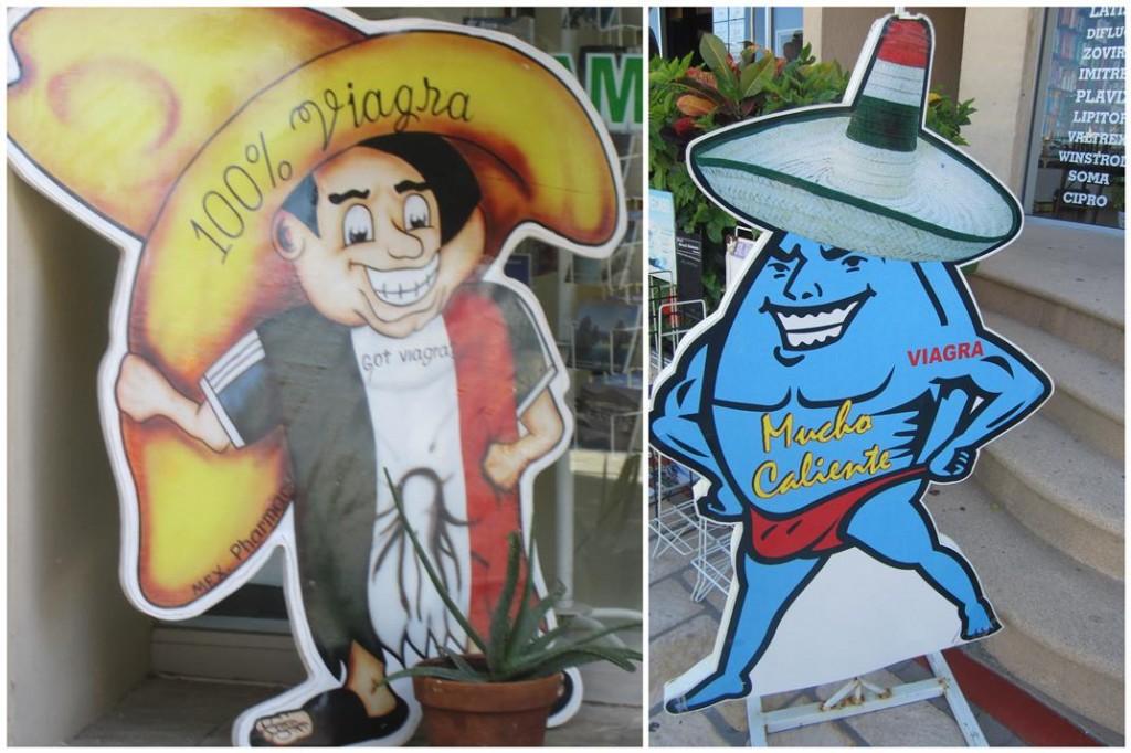 Cabo san lucas Viagra signs