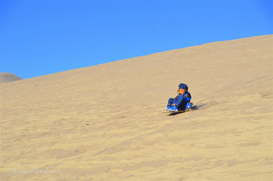 Great Sand Dunes sand sledding
