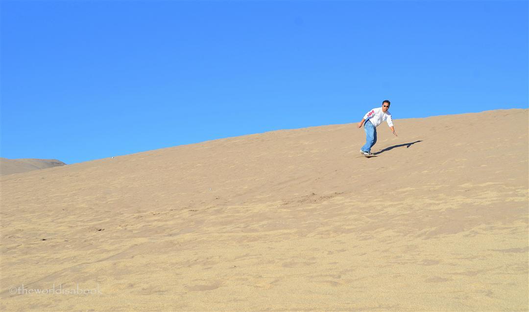 Great Sand Dunes sandboarding