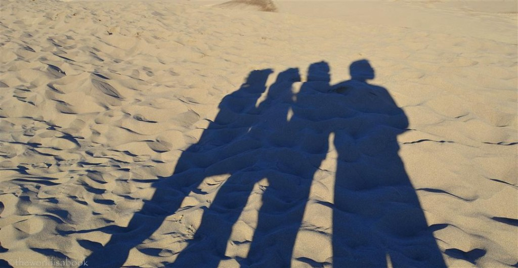Great Sand Dunes shadow family