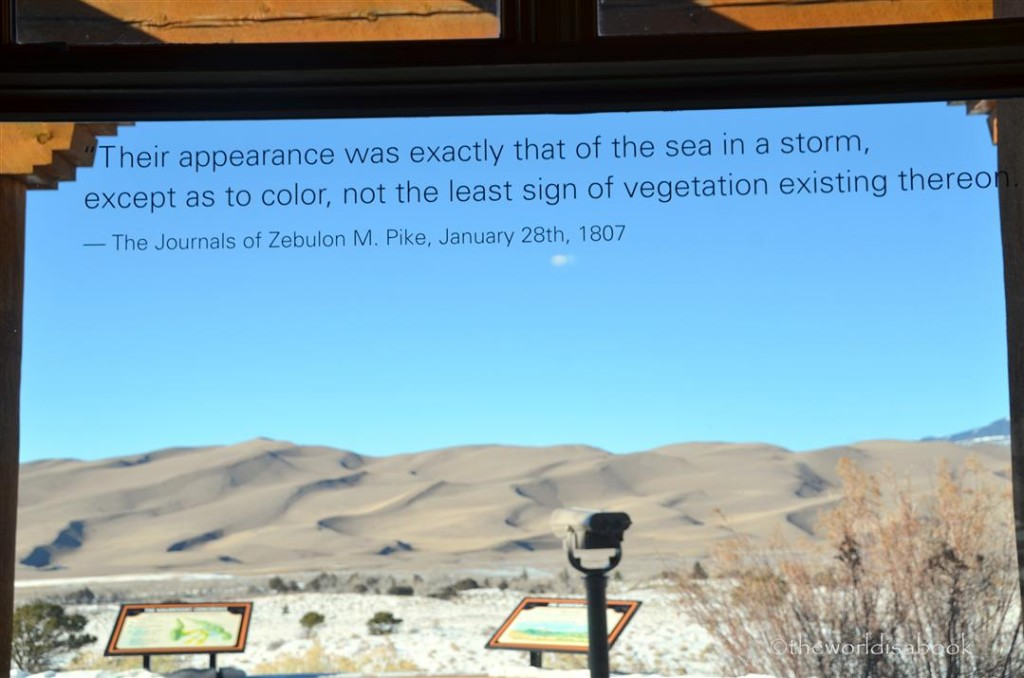 Great Sand Dunes window quote