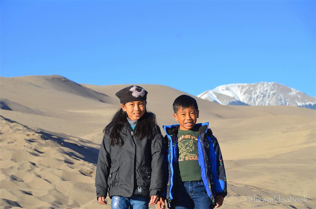 Great Sand Dunes with kids