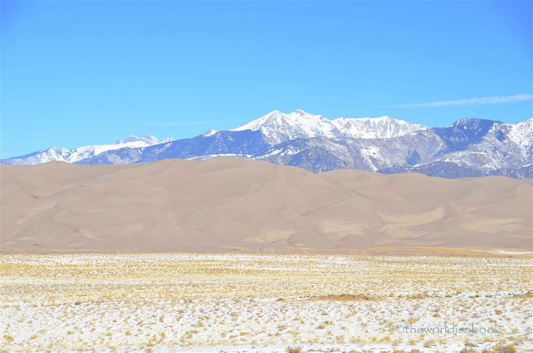 Great Sand Dunes with mountains
