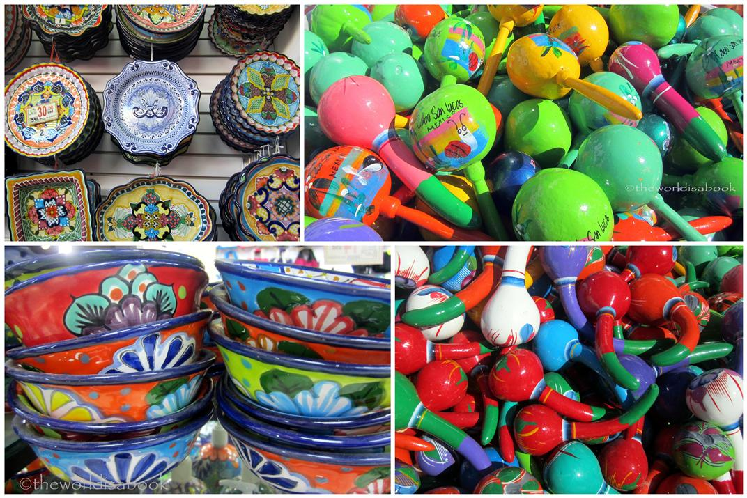 Mexican souvenirs at cabo san lucas