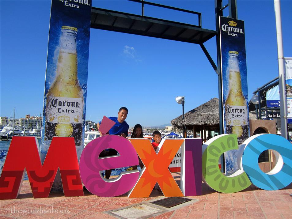 Mexico sign at cabo san lucas