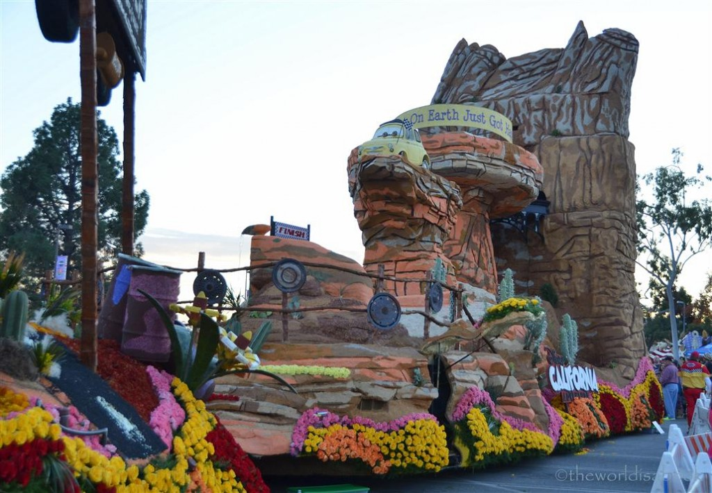 Rose Parade Float 2013 Disneyland Cars Land