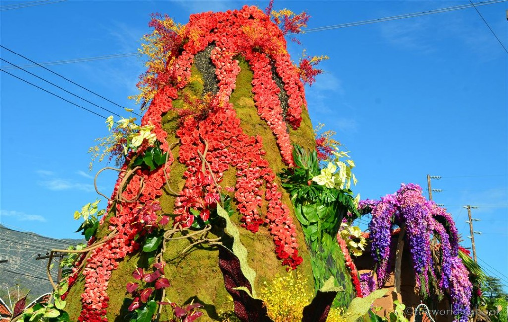 Rose Parade Float 2013 Dole volcano