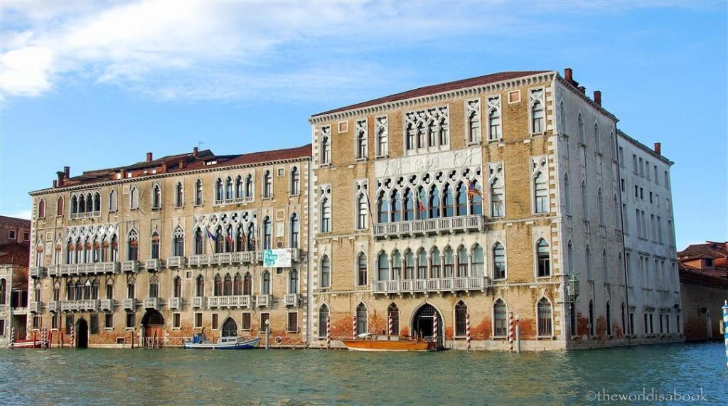 Venice palace along canal