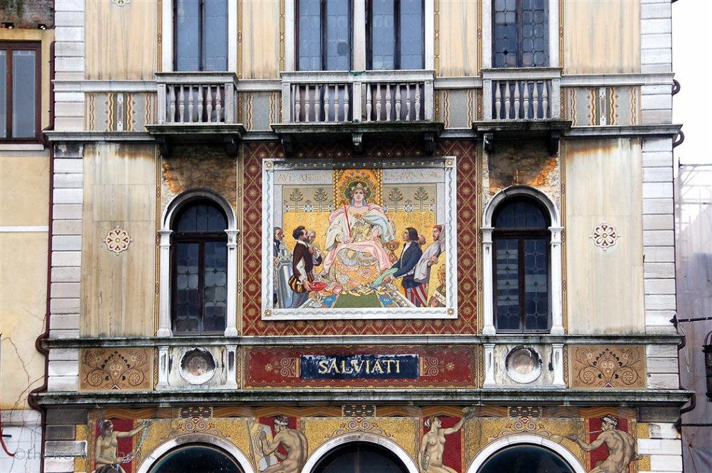 Venice building with fresco
