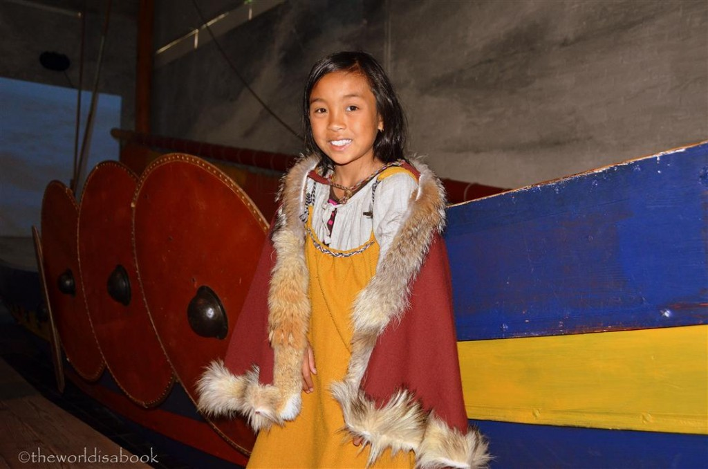 Viking ship museum children dress-up activity