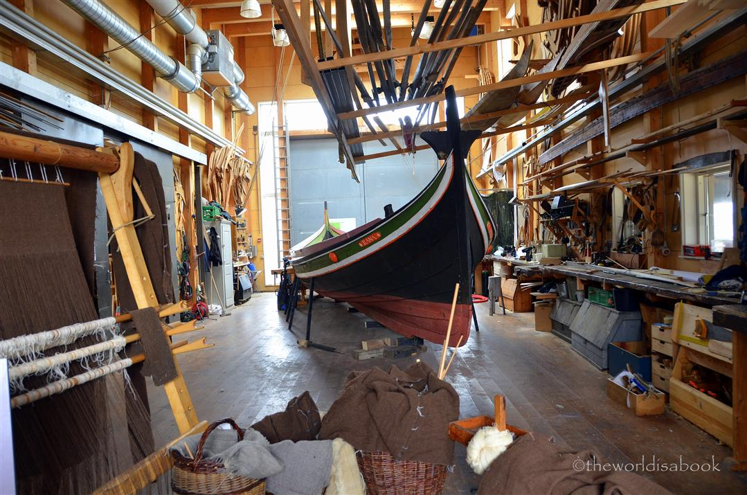 Viking ship builder in Roskilde