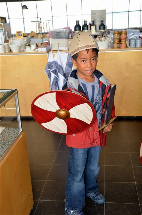Viking ship museum children dress-up activity