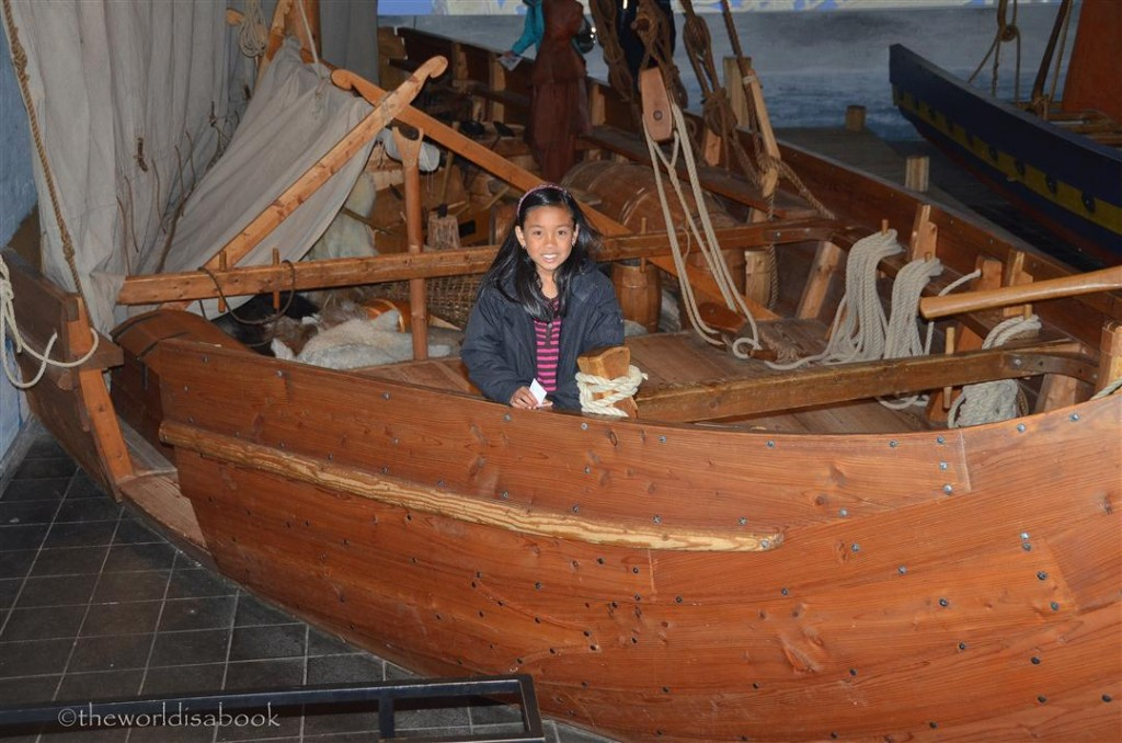 Viking ship museum trader boat in east Room
