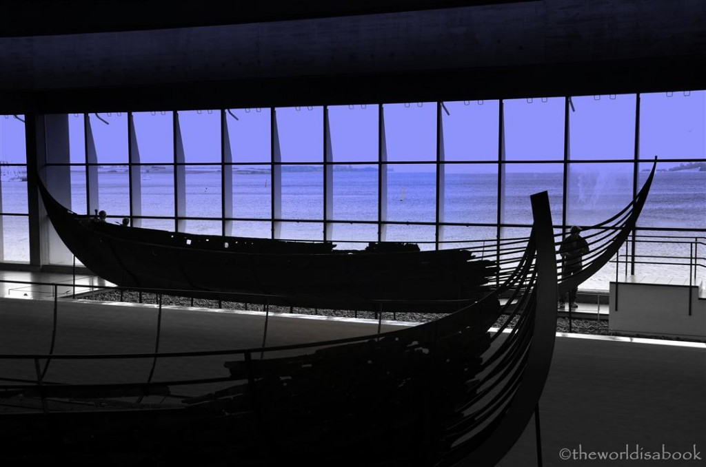 Viking ship museum view