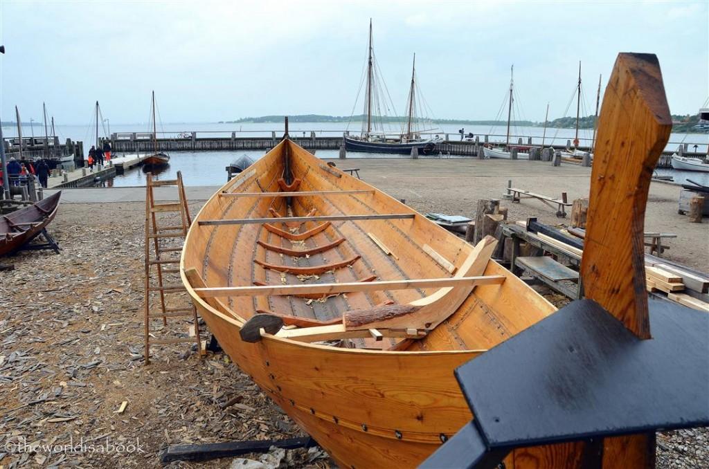 Viking ship museum construction