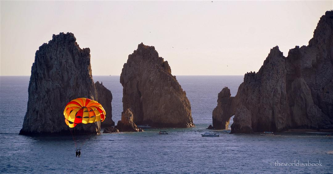 cabo san lucas parasailing at the arches