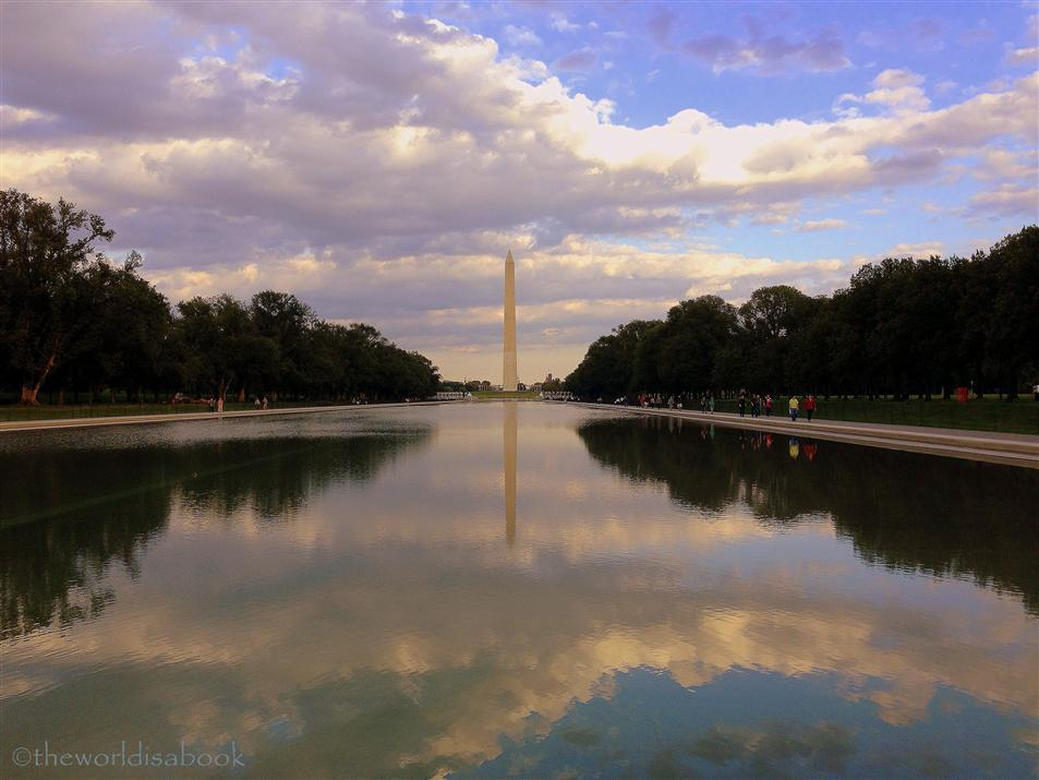 washington monument and reflecting pool