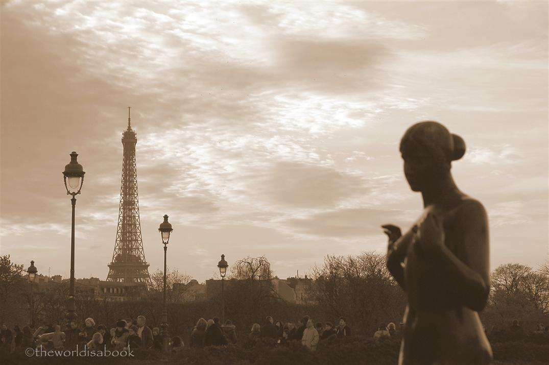 Eiffel tower from Tuileries
