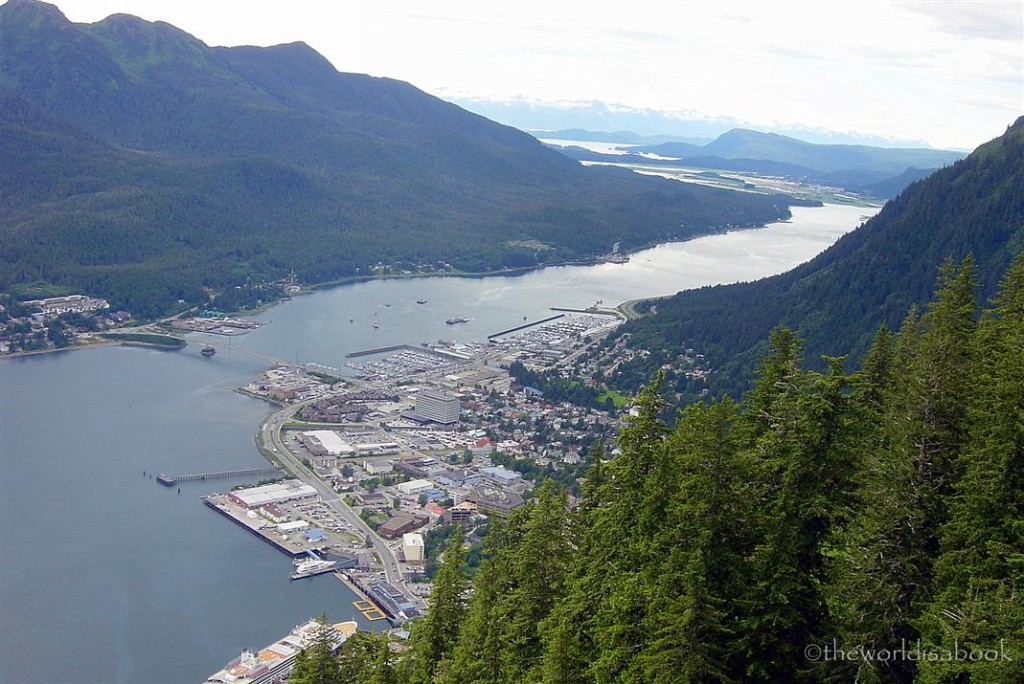 Juneau from Mt roberts tramway