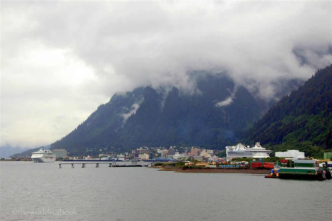 Juneau with cruise ships