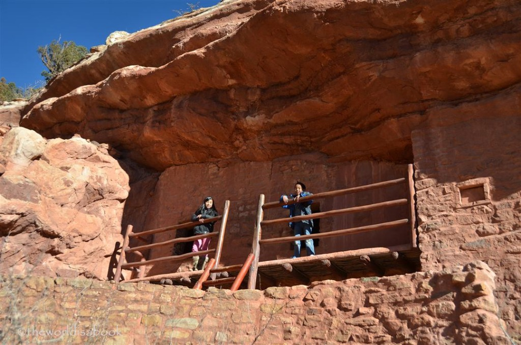 Manitou cliff dwellings balcony