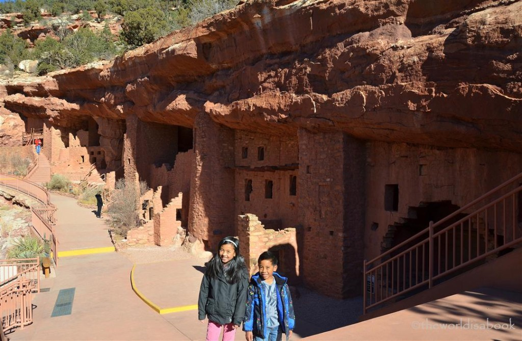 Manitou cliff dwellings with kids