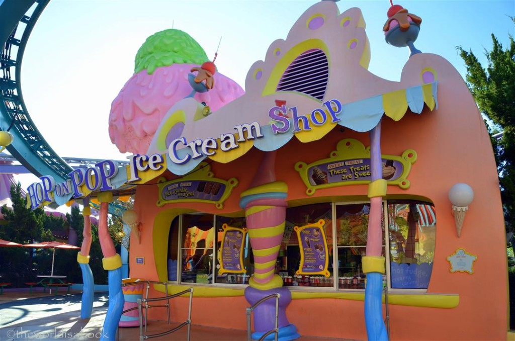Seuss Landing Ice Cream Shop