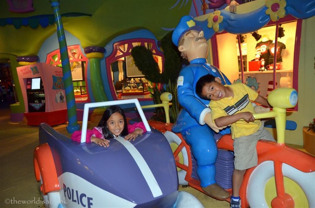 Seuss Landing police car
