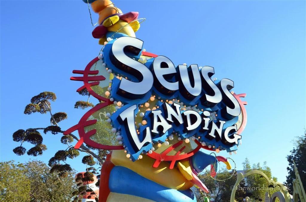 Seuss Landing sign