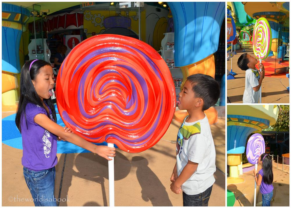 Seuss landing fun shots with lollipops