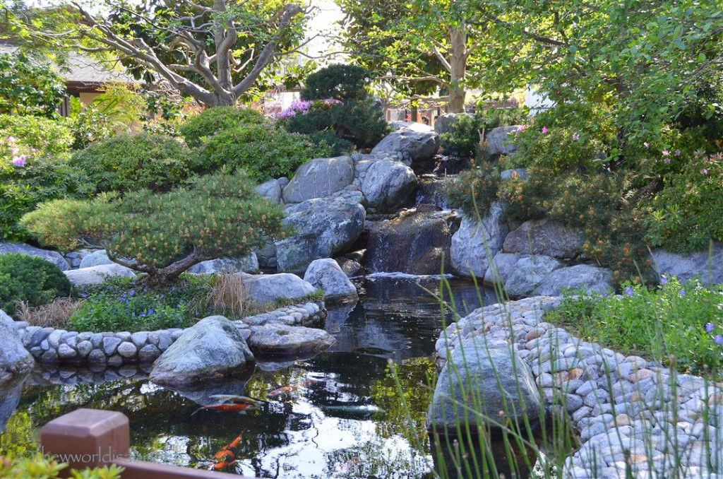 Japanese Friendship Garden fountain