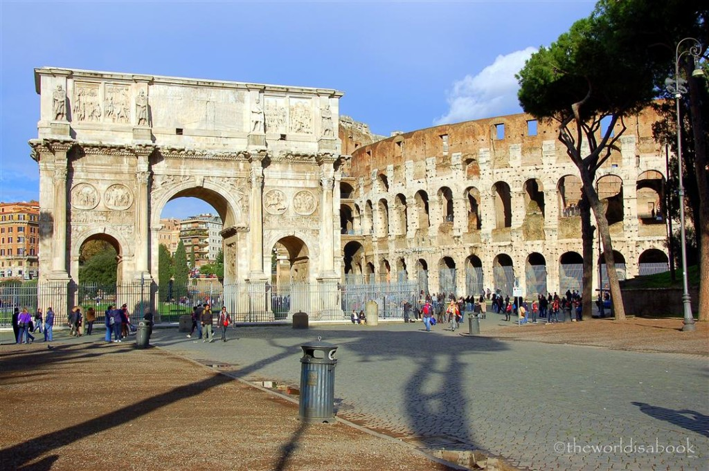 colosseum and Constantine Arch