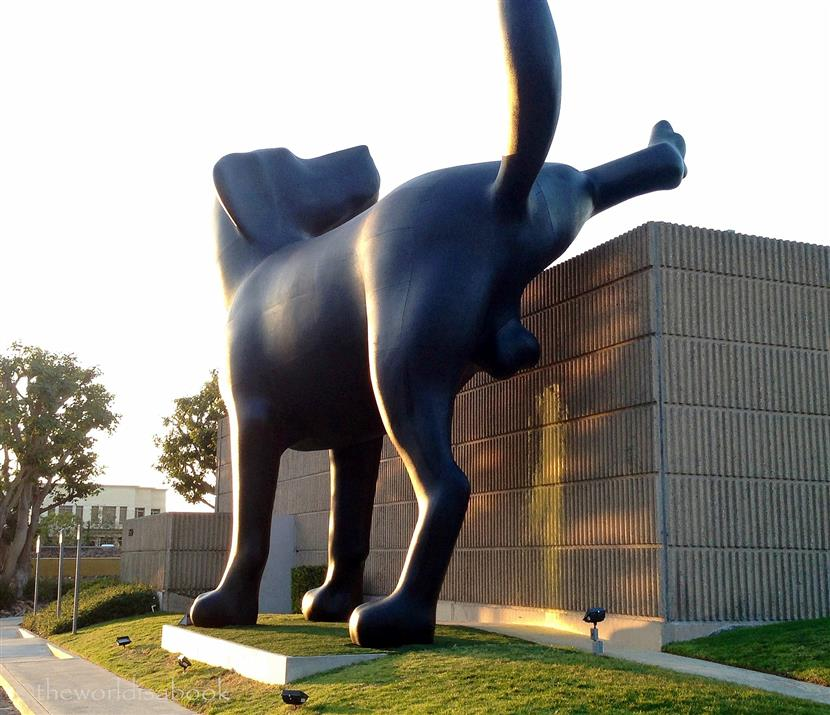 bad dog sculpture