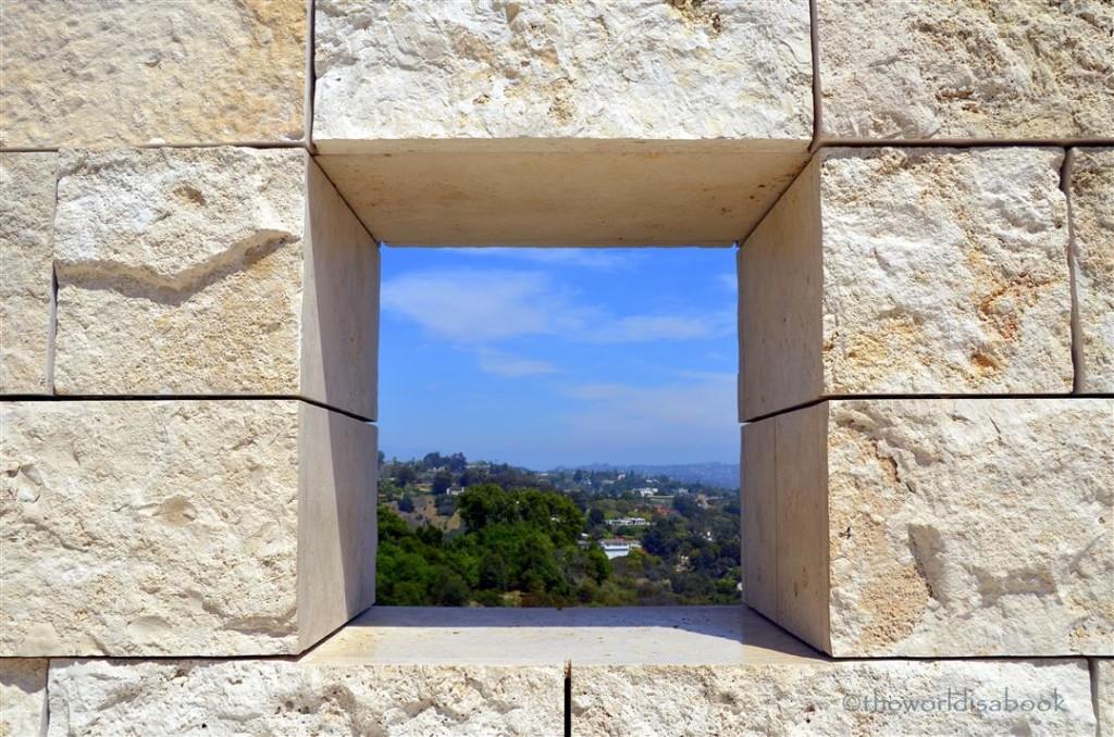 getty Center window