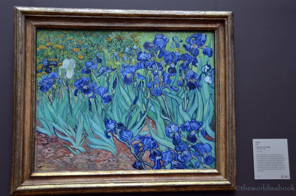 getty Museum Van Gogh Irises