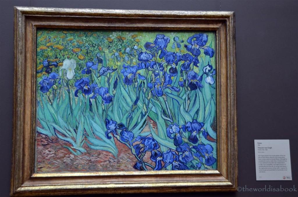 getty Museum Van Gogh Irises