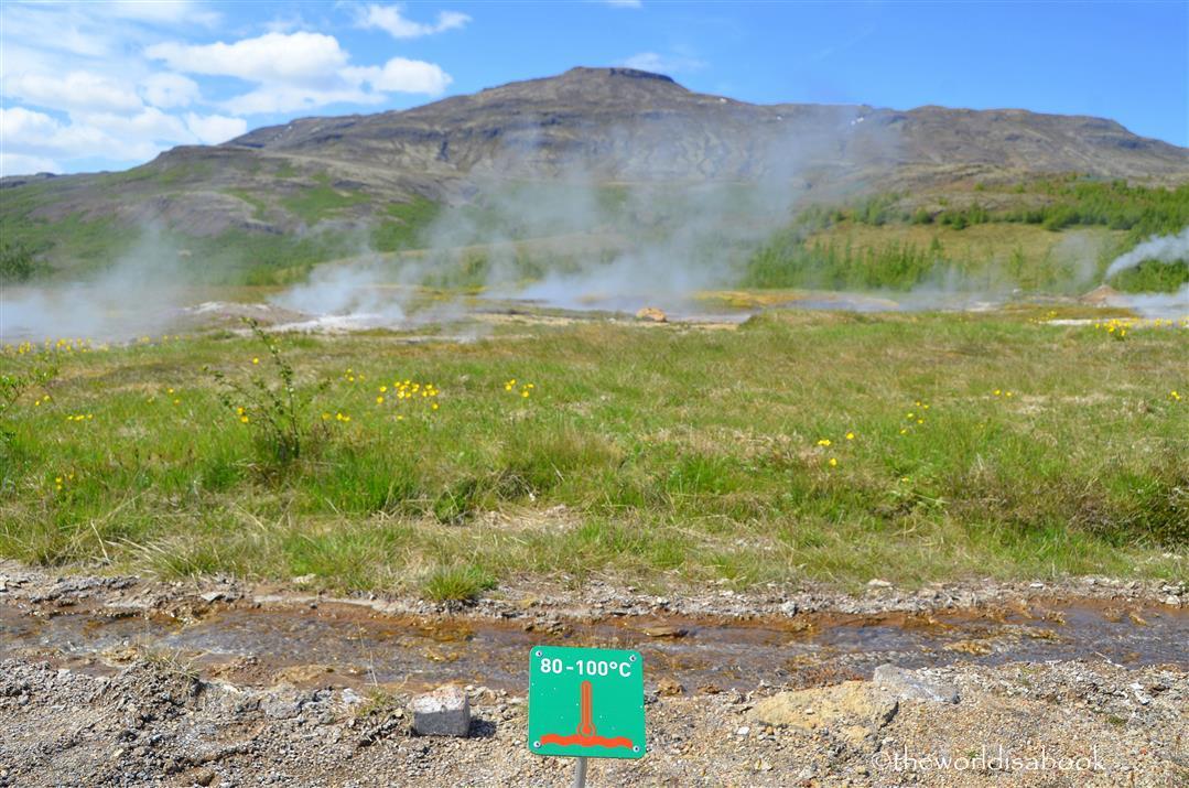 Iceland geyser Haukadalur