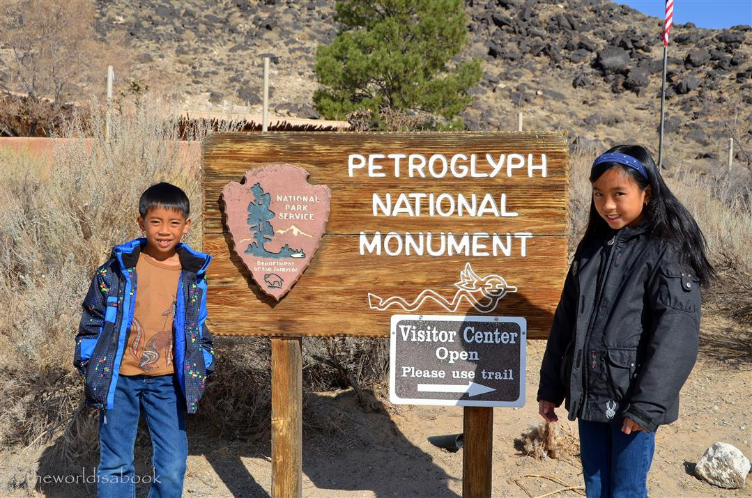 Petroglyph National Monument sign