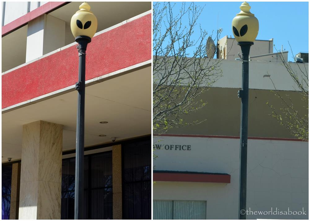 Roswell lampposts